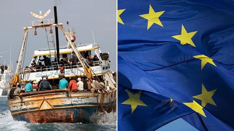 Många människor är just nu på flykt i Europa.