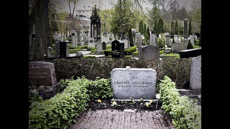 سنگ قبر فادیمه شاهین دال که توسط پدرش به قتل رسید Foto: Lenny Holmberger/ Flickr