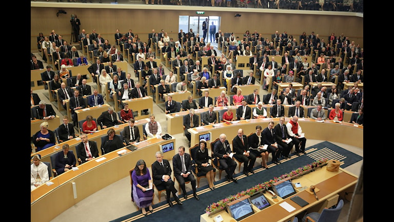 مراسم گشایش پارلمان با حضور خانواده سلطنتی . Foto: Sören Andersson / TT