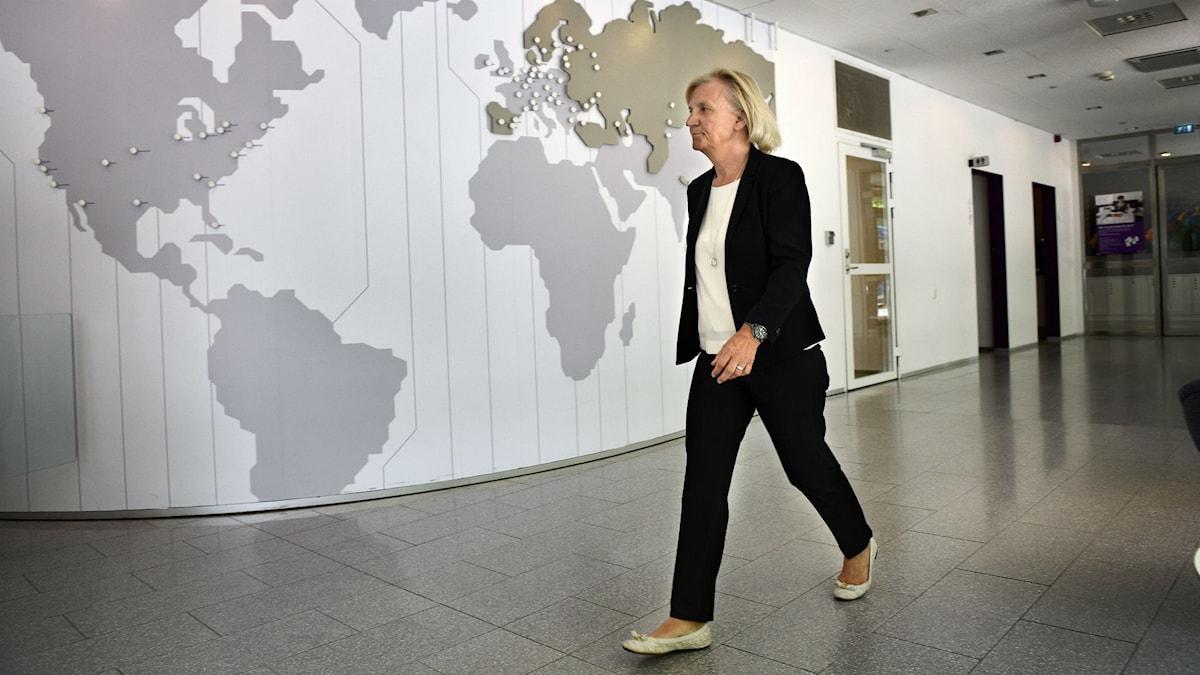 تلیا سونرا، فعالیت خود را در هفت کشور اروپا آسیایی پایان می دهد. ازجمله ماری ارلینگ، رئیس هیئت مدیره این شرکت، این موضوع را اعلام کرد  Foto: Anders Wiklund /TT