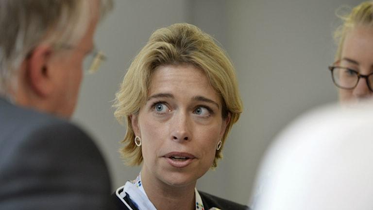 انیکا استراندهِل، وزیر اموربیمه های همگانی Foto: Henrik Montgomery / TT