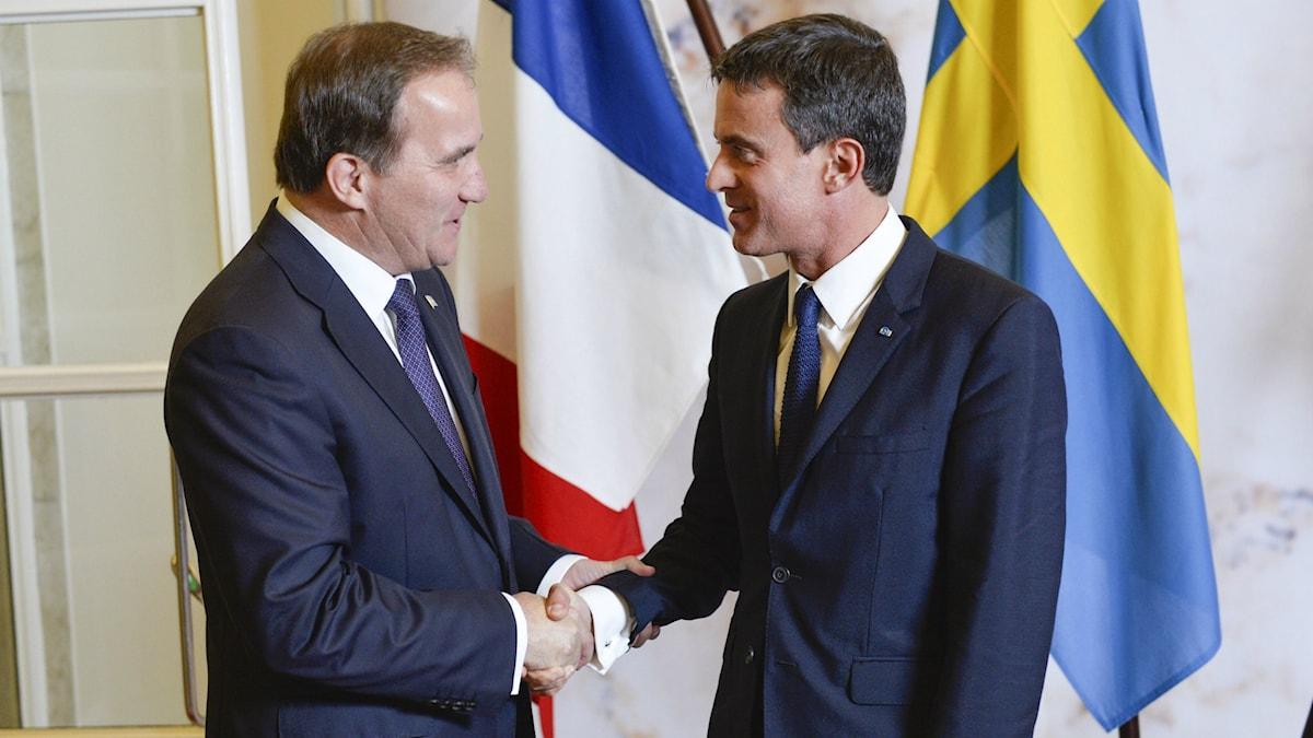 دیدار نخست وزیران فرانسه و سوئد Foto: Henrik Montgomery  /TT