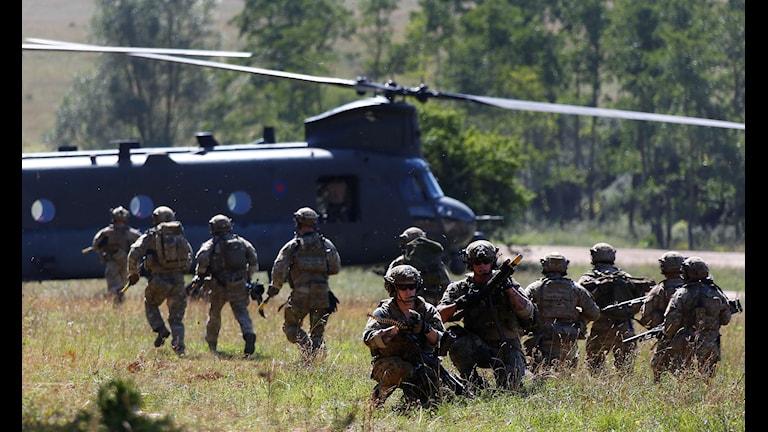 نیروی ویژه سازمان ناتو.  Photo: Matthias Schrader/AP/TT