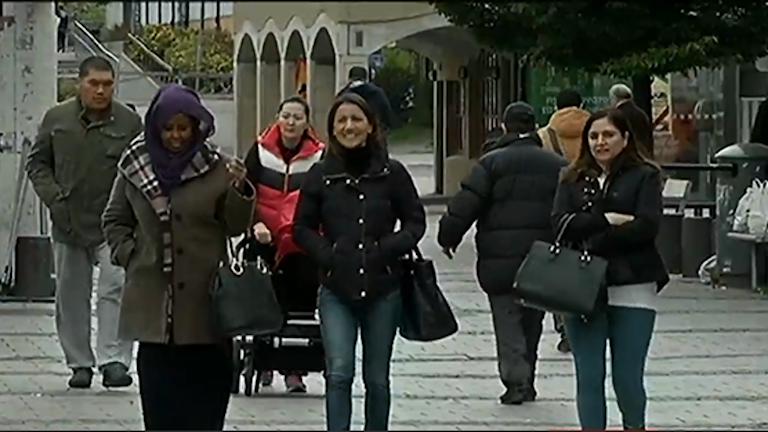 میدان رینکه بی در حومه استکهلم. Foto: SVT