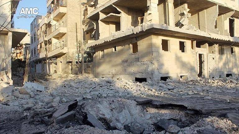 Foto: Aleppo Media Center AMC/TT.