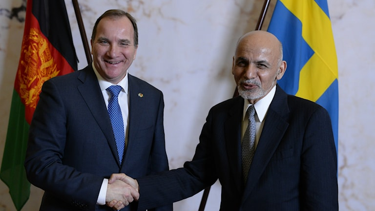 استفان لوون ، نخست وزیر سوئد و اشرف غنی، رئیس جمهور افغانستان.  Foto: Anders Wiklund / TT