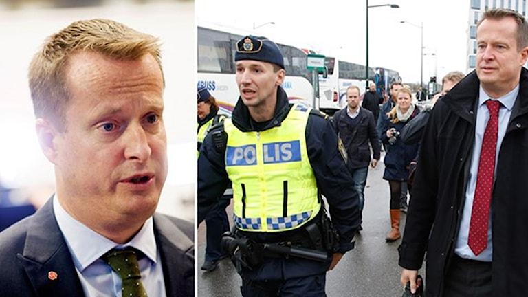 اندرش ییگه من، وزیر کشور. Foto: Stig-Åke Jönsson, Henrik Montgomery/ TT