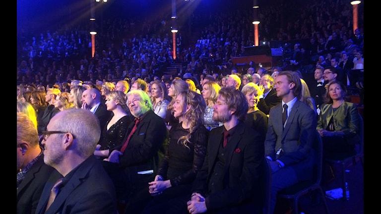 میهمانان و شرکت کنندگان در مراسم اهدای جوایز بهترین های سینمای سوئد در سال گذشته. Foto: Persiska radktionen/Sveriges radio
