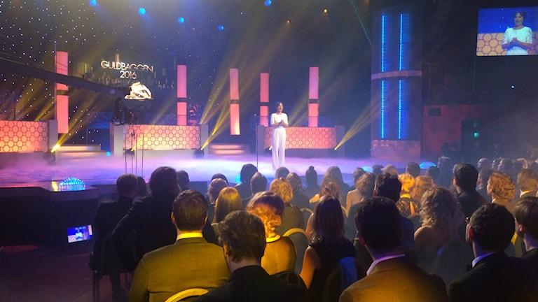 مراسم اهدای جوایز گولد بگگه در استکهلم Foto: Zinat Hashemi/Sveriges Radio