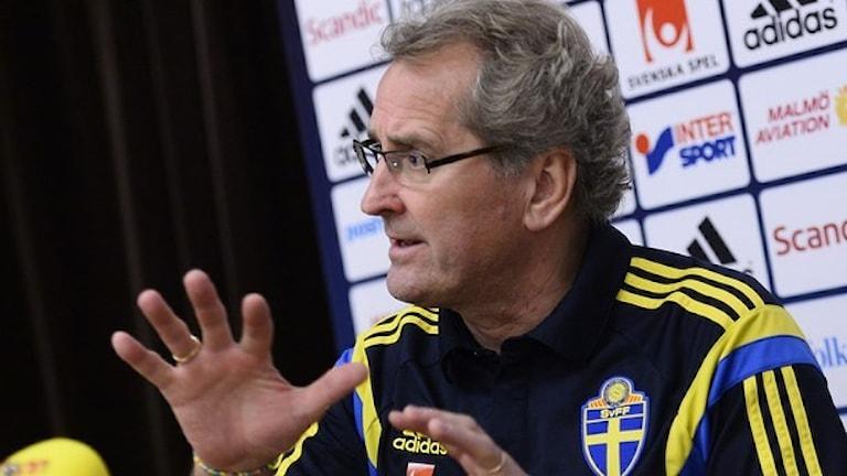 اریک همرم، مربی تیم فوتبال سوئد گفته است که از مربی گیری این تیم کنار می رود Foto: Maja Suslin / TT