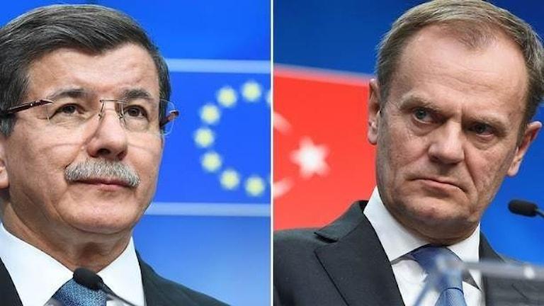 دونالد توسک و احمدداوود  اوغلو از سران اتحادیه اروپا و ترکیه