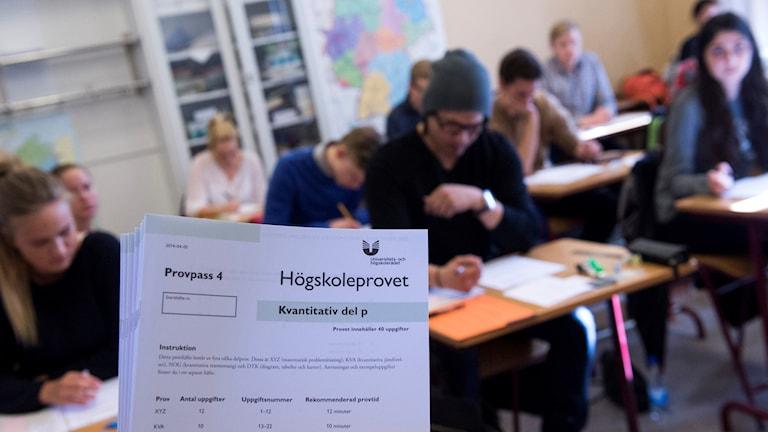 Högskoleprovet skrivs i Kungsholmens gymnasium i Stockholm