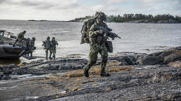 الوحدات العسكرية في جزيرة غوتلاند.