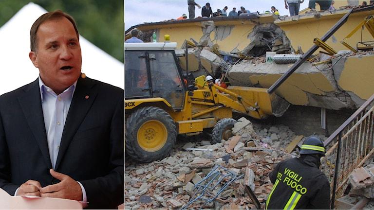 Löfben pratar om Jordbävning i Italien