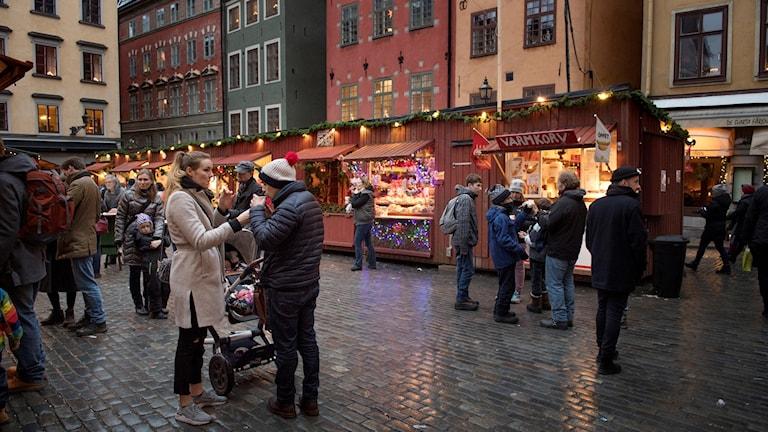 یک بازار کریسمس در استکهلم