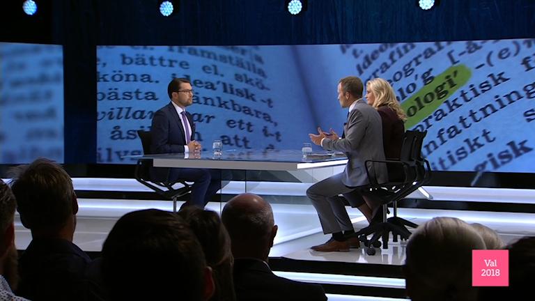برنامه تلویزیون سوئد در گفتگو با رهبران احزاب