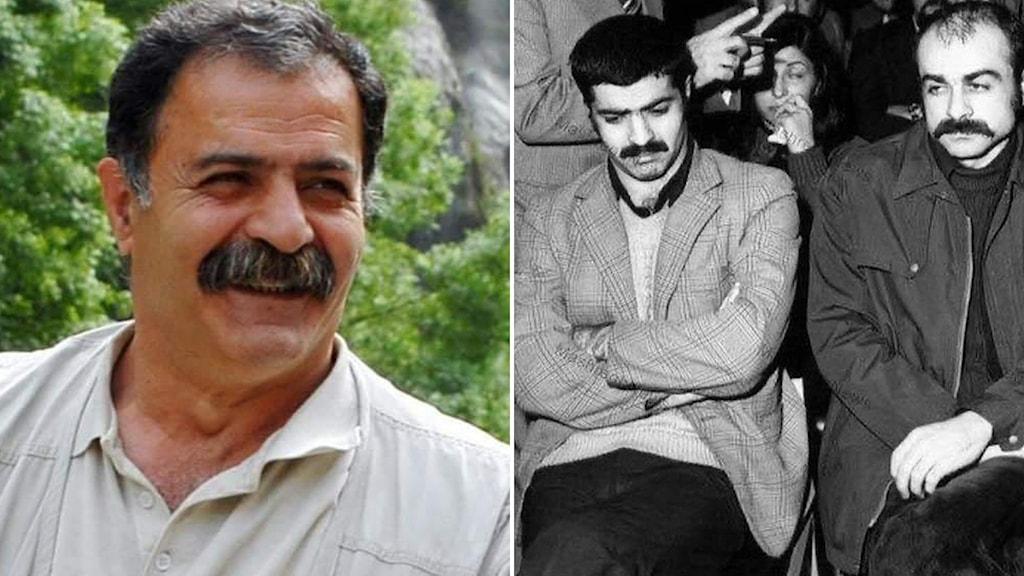 تصویر سمت راست: طیفور بطحایی در کنار خسور گلسرخی در جریان دادگاه