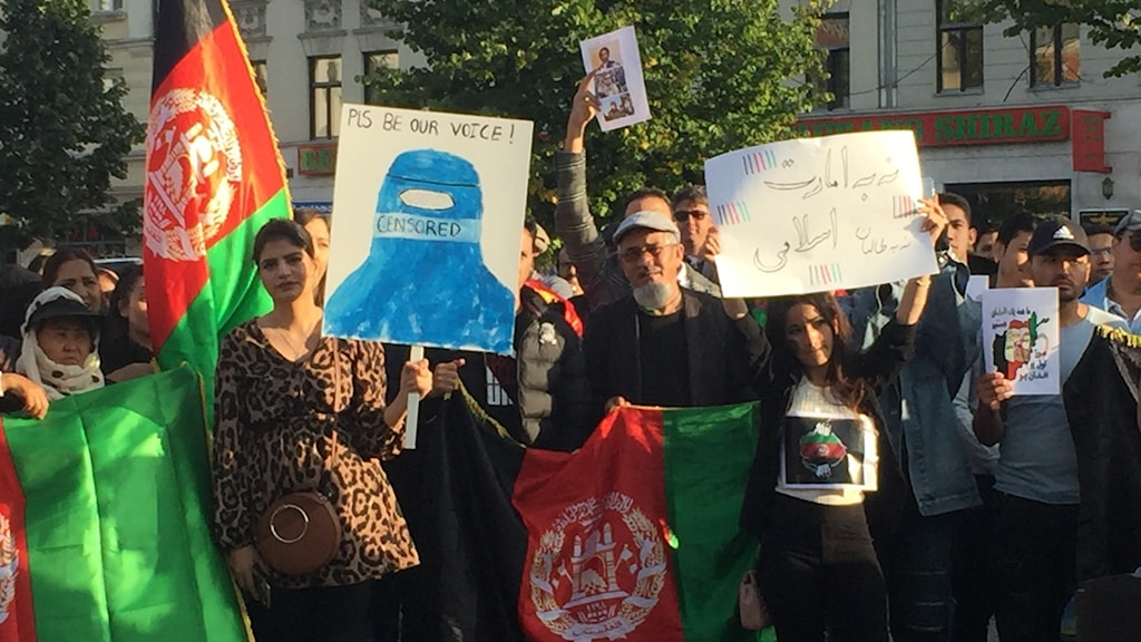 تظاهرات افغانها در شهر مالمو