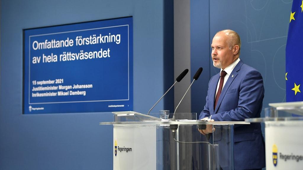 Justitie- och migrationsminister Morgan Johansson (S)