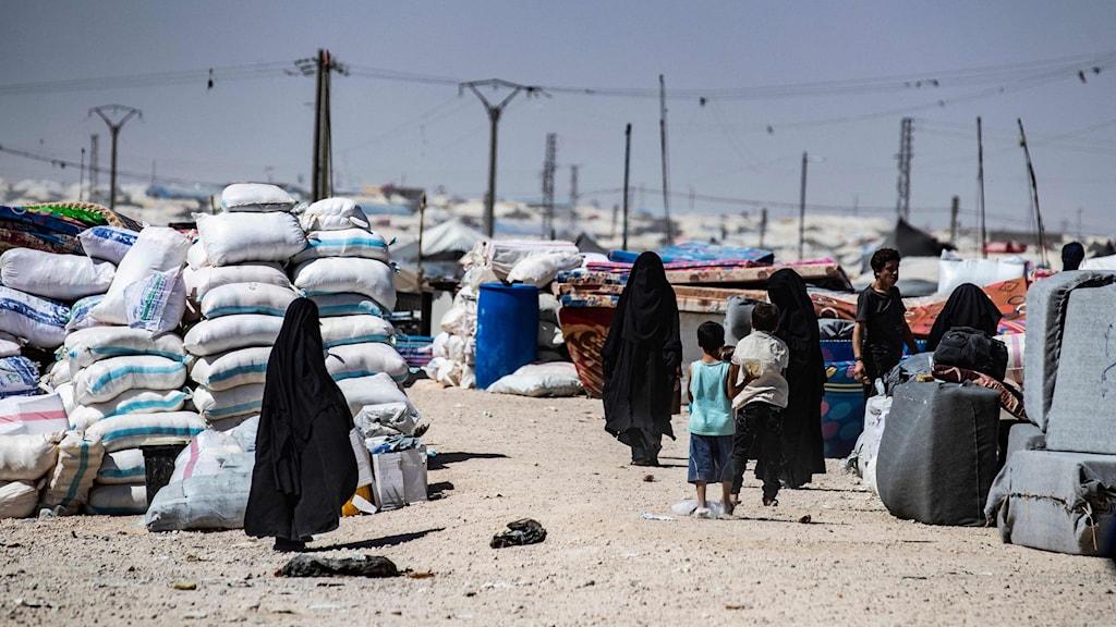 Al-Hol lägret i Syrien.
