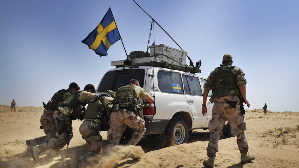 نیروهای سویدنی، در شمال افغانستان.