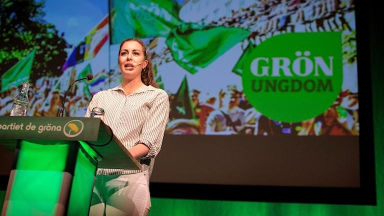 Hanna Lidström, språkrör för Grön Ungdom,
