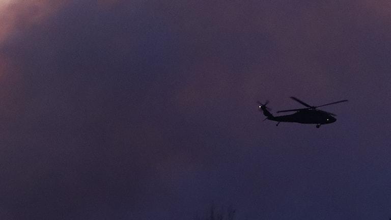 skogsbrand,helikopter,räkpelare