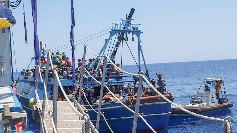 الهجرة الغير شرعية في البحر المتوسط.