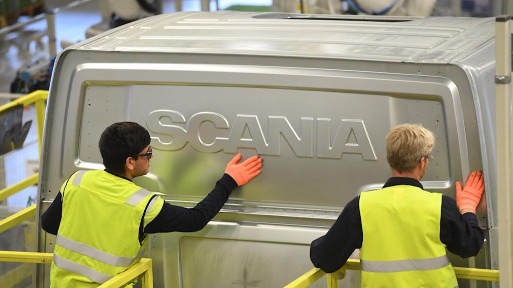 Arbetare på Scania.