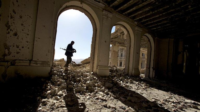 القصر الملكي في عاصمة أفغانستان، كابول.