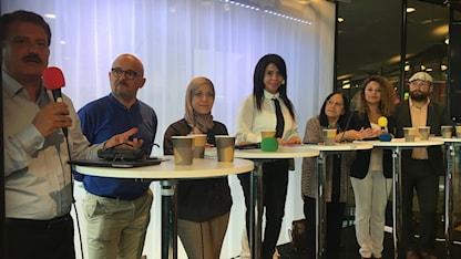 مناظرة راديو السويد في دار الثقافة بالعاصمة ستوكهولم.