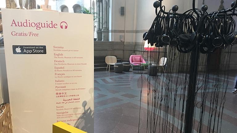 Audioguide på arabiska Nordiska museet