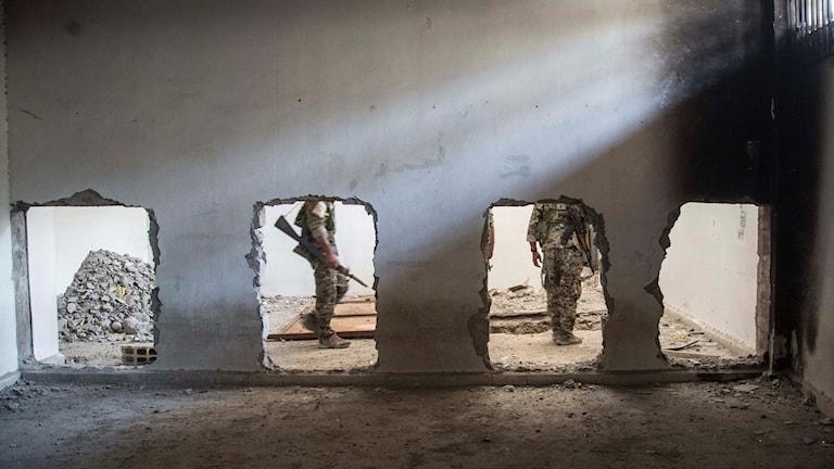 الرقة بعد تحريرها من داعش.