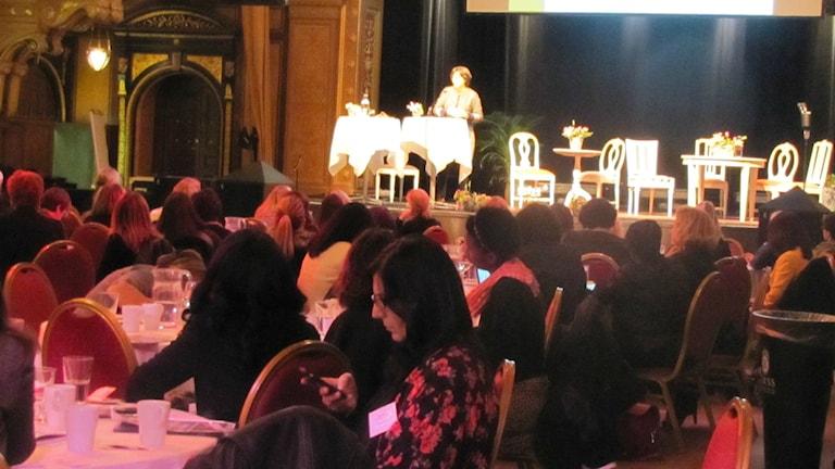 مؤتمر ستوكهولم العالمي لسيدات الاعمال، عدسة: طالب عبد الامير، الاذاعة السويدية