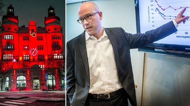 أولا بيترشون أشار بأن ضعف الاقتصاد العالمي سيؤثر بالسلب على السوق الكبير للصادرات السويدية إلى أوروبا. صورة: وكالة الأنباء السويدية.
