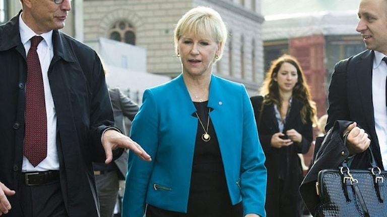 وزيرة الخارجية السويدية مارغوت فالستروم. صورة: وكالة الأنباء السويدية.