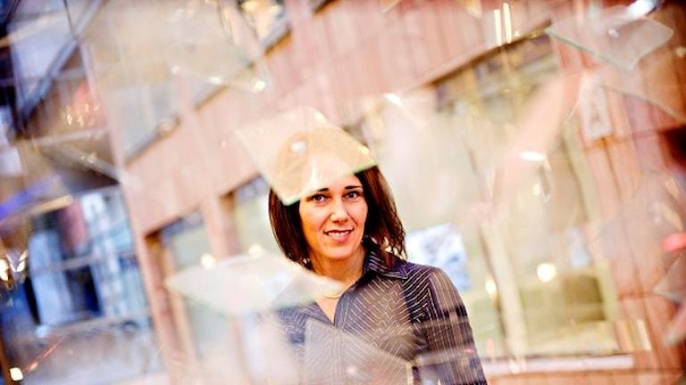 """أنيكا وينست رئيسة الشؤون الإقتصادية لدى مصرف """"نورديا"""" في السويد/ صورة باتريك لوندين TT"""