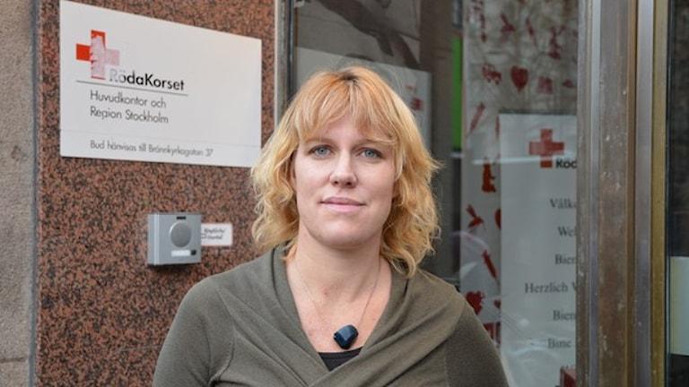 أليكسندرا سيغينستيدت، الصليب الأحر، صورة: ماريا رابتش/ إذاعة السويد.