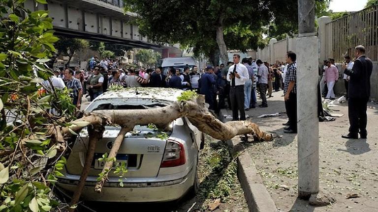 تعرضت مصر خلال الأشهر الماضية لتفجيرات إرهابية. صورة: TT /Aly Hazzaa.