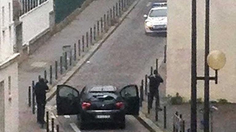 """صورة من الهجوم على صحيفة """"شارلي إيبدو"""""""