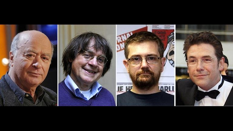 12 شخصاً لقوا حتفهم 12 قتيلا من ضمنهم أربع من رسامي الكاريكاتور وهم شارب وولونسكي وكابو وتينيوس / TT