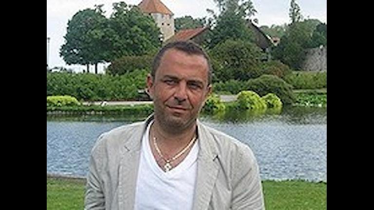 مارون عون مدير جمعية أصحاب الشركات من أصول مهاجرة، صورة طالب عبد الامير، الاذاعة السويدية