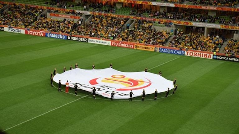 صورة من حفل افتتاح البطولة الآسيويية بكرة القدم بعدسة:Tourism Victoria. Flickr.com CC