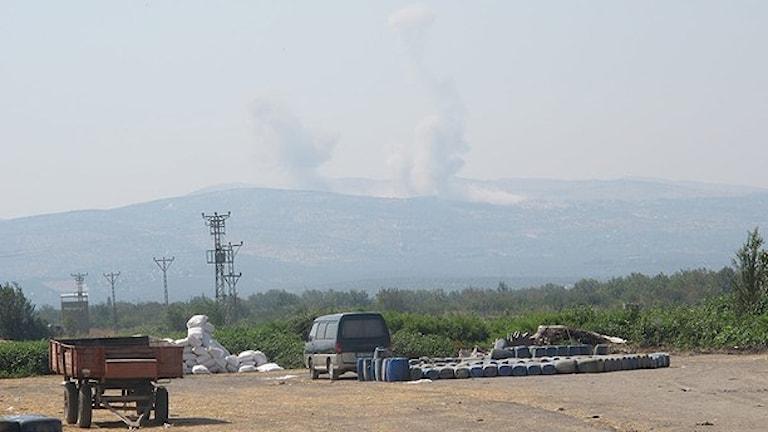 صورة من الأرشيف لاحدى مناطق النزاع في سوريا