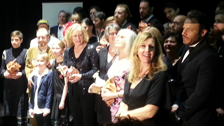 صورة جماعية للفائزين بجوائز الخنفساء الذهبية 2015، عدسة طالب عبد الأمير / راديو السويد