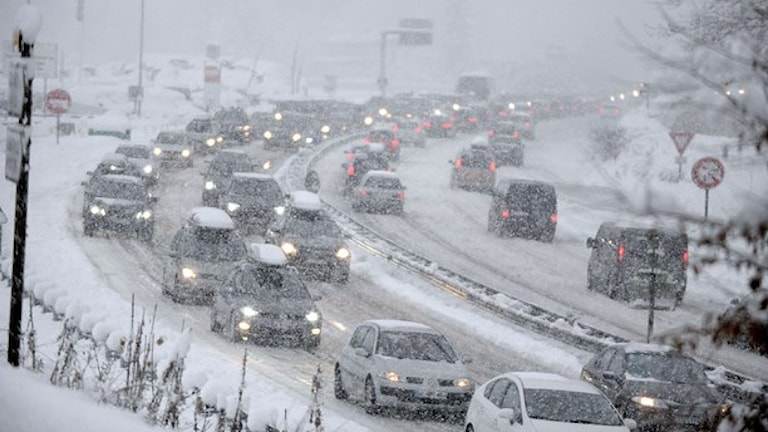 Snöoväder (arkivbild) Foto: Jean-Pierre Clatot/TT.
