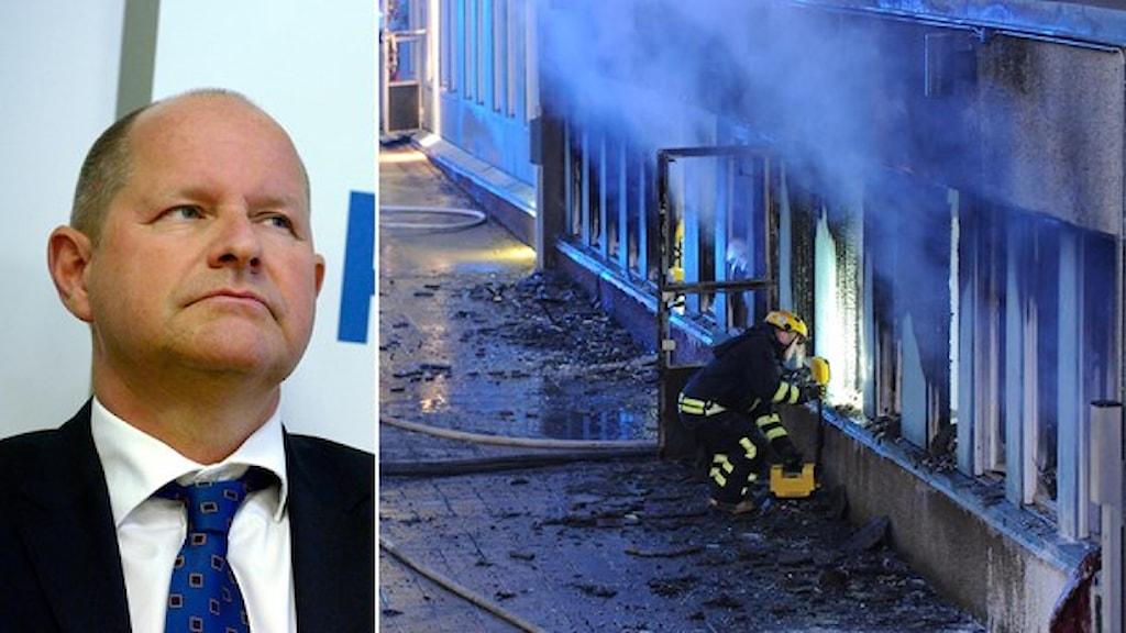 رئيس جهاز الشرطة العام دان إليسون. صورة: وكالة الأنباء السويدية.