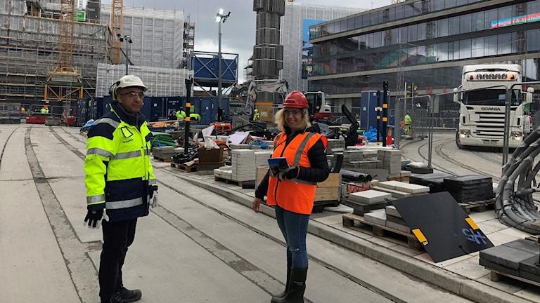 مراسلة الإذاعة السويدية مع المهندس المدني ميثم حمد من سكانسكا