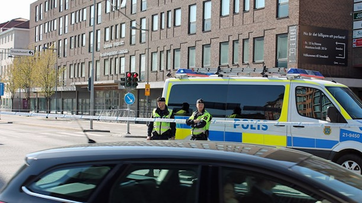 Avspärrningen vid Kungsgatan. Foto: Sveriges Radio
