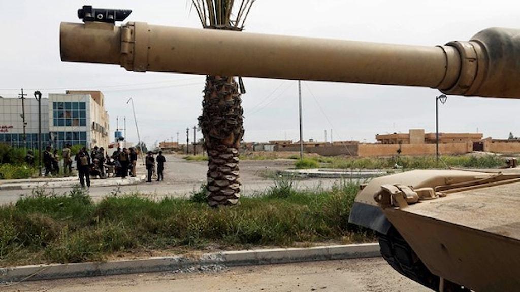 Irakiska soldater i Tikrit.